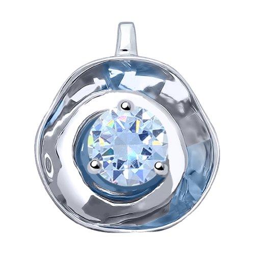 Подвеска из серебра с фианитом (8-94030020) - фото