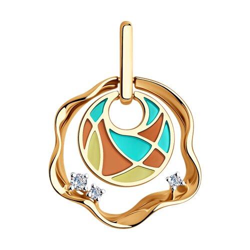 Подвеска из золота с бриллиантами (6039036) - фото