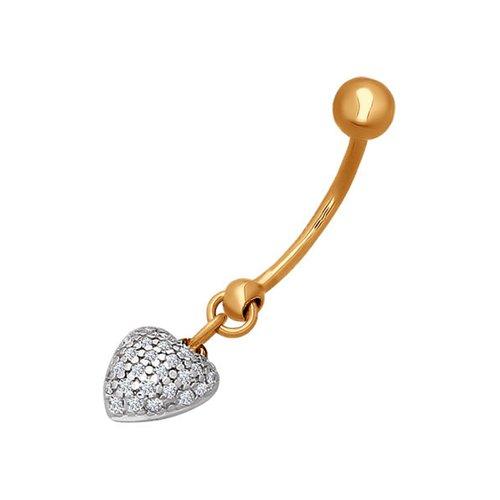 Украшение из золота для пирсинга пупка