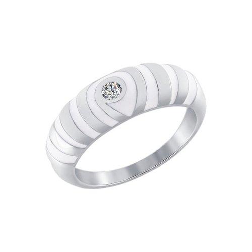 цены Кольцо SOKOLOV из серебра с эмалью с фианитом