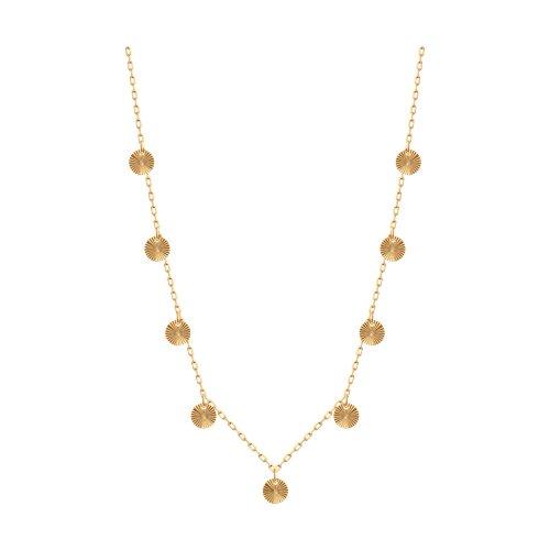 Колье из золота с алмазной гранью 070328 sokolov фото