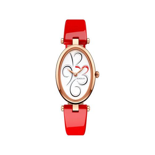 Женские золотые часы (235.01.00.000.03.06.2) - фото №2