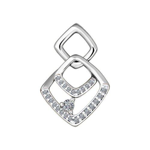 Декоративная «Перекрывающиеся квадраты» подвеска SOKOLOV из белого золота