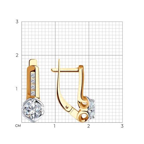 Серьги из золота с фианитами Сваровски 81020499 SOKOLOV фото 2