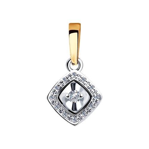 Подвеска из комбинированного золота с бриллиантами (1030731) - фото