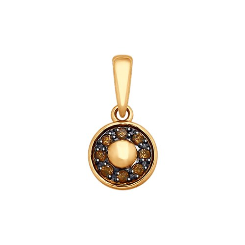 Подвеска из золота с фианитами (035433-4) - фото