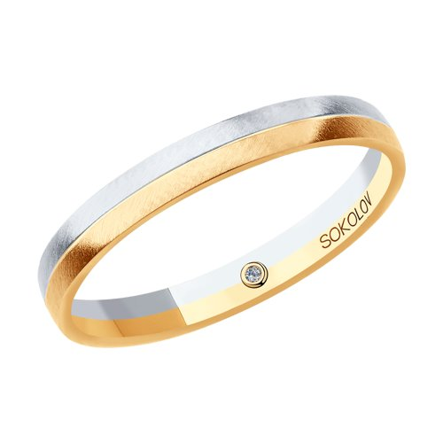 Кольцо из комбинированного золота (1114102-03) - фото