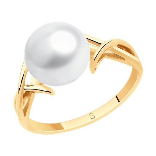 Кольцо из золота с жемчугом (791133) - фото