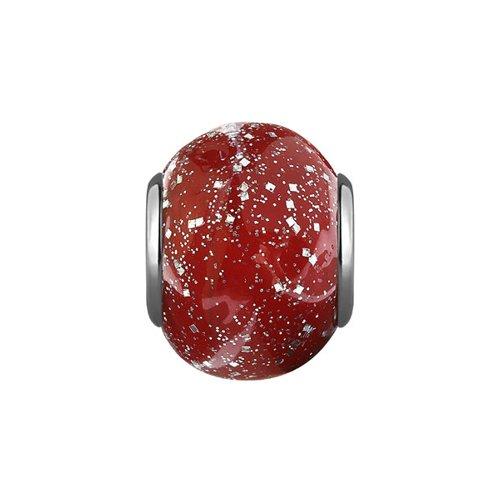 Подвеска-шарм, Рубиновое муранское стекло цена 2017