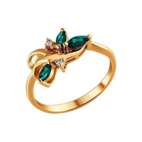 Кольцо из золота с бриллиантами и изумрудами кольцо с изумрудами и бриллиантами из желтого золота 67783