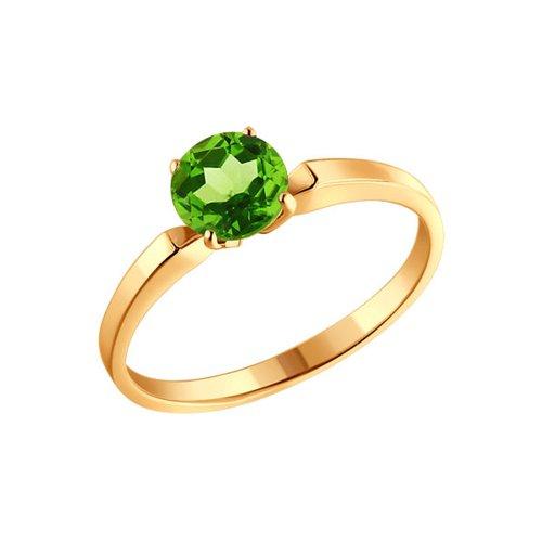 Кольцо SOKOLOV из золота с хризолитом