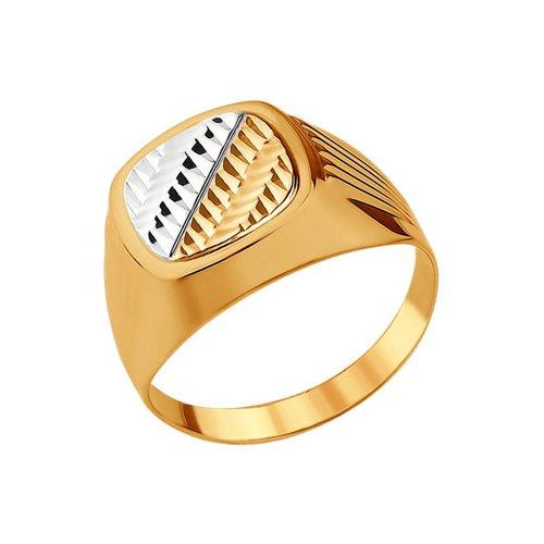 Печатка из золота с алмазной гранью