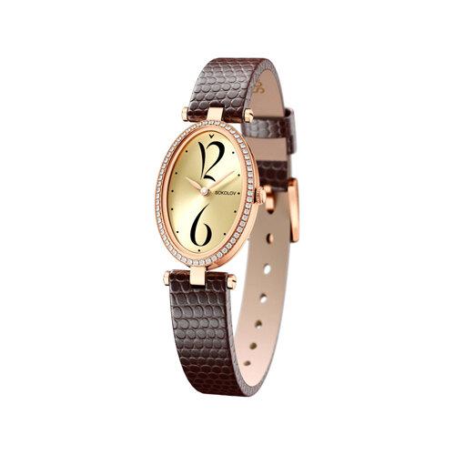 Женские золотые часы (236.01.00.001.06.07.2) - фото