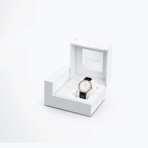 Женские золотые часы (210.01.00.100.01.01.2) - фото №4