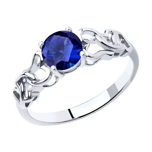 Кольцо SOKOLOV из серебра с синим фианитом брошь sokolov из серебра с синим фианитом
