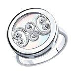 Кольцо из серебра с белым перламутром