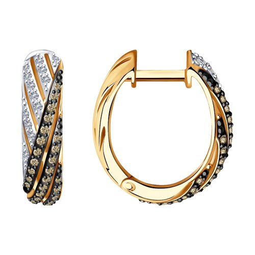 Серьги из золота с бриллиантами (1021503) - фото