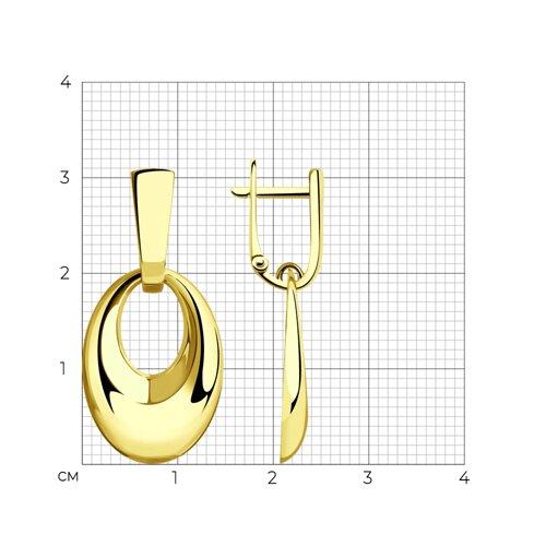 Серьги из желтого золота 028393-2 SOKOLOV фото 2