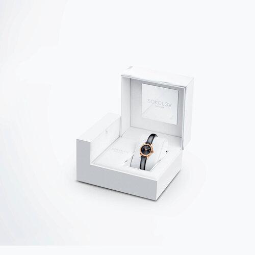 Женские золотые часы (211.01.00.000.03.05.3) - фото №4