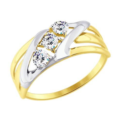 Кольцо из желтого золота (017640-2) - фото