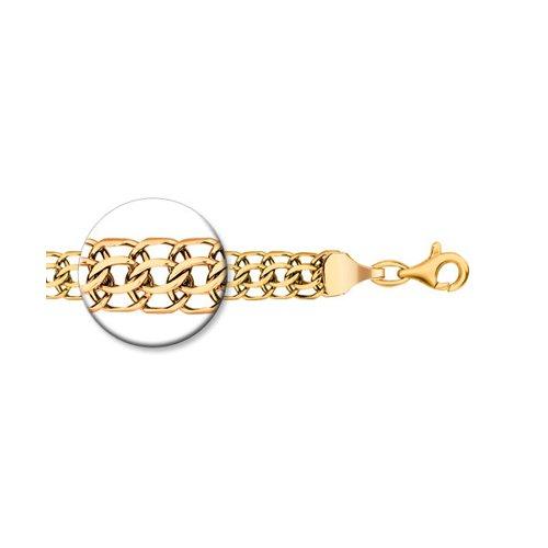 Цепь питон ручная вязка из золочёного серебра с алмазной гранью (988150704) - фото