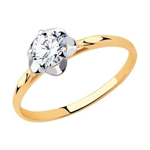 Кольцо из золота со Swarovski Zirconia (81010453) - фото