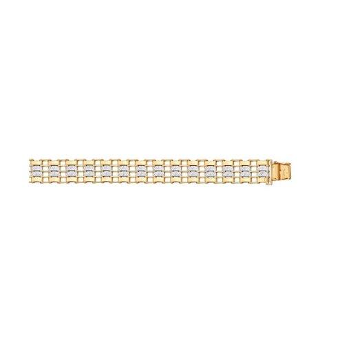 Браслет из золота с алмазной гранью 050652 SOKOLOV фото