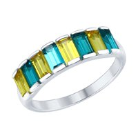 Cеребряное кольцо с кристаллами Swarovski