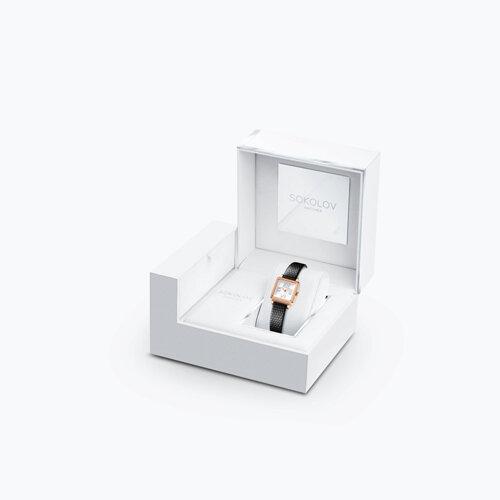 Женские золотые часы (232.01.00.001.01.01.2) - фото №4