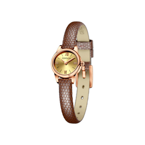 Женские золотые часы (211.01.00.000.02.03.3) - фото