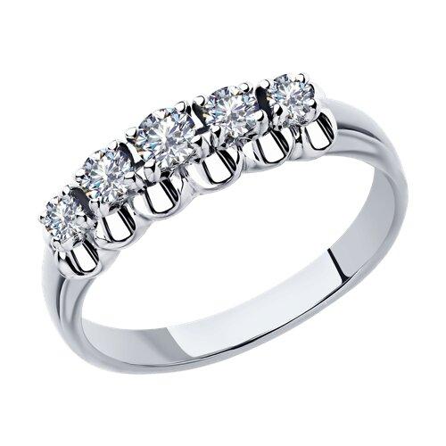 Кольцо из белого золота с бриллиантами (1011809) - фото