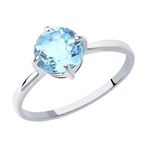 Кольцо из серебра с топазом (92011790) - фото