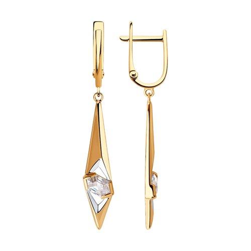 Серьги из золота со Swarovski Zirconia (81020434) - фото
