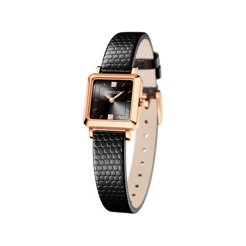 Женские золотые часы (231.01.00.000.07.01.2) - фото
