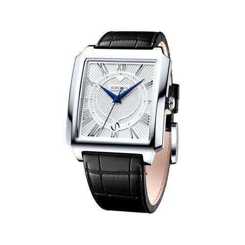 Мужские серебряные часы (134.30.00.000.01.01.3) - фото