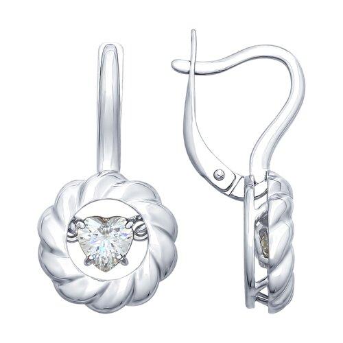 Серьги из серебра со Swarovski Zirconia (89020091) - фото