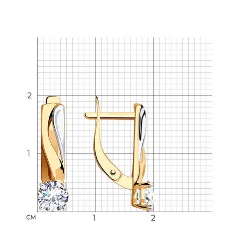 Серьги из золота с фианитами 028510 SOKOLOV фото 2