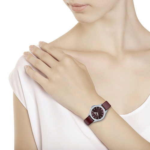 Женские серебряные часы (137.30.00.001.08.05.2) - фото №3