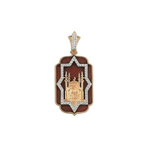 Подвеска SOKOLOV из золота с эмалью с бриллиантами подвеска с 1 эмалью из красного золота