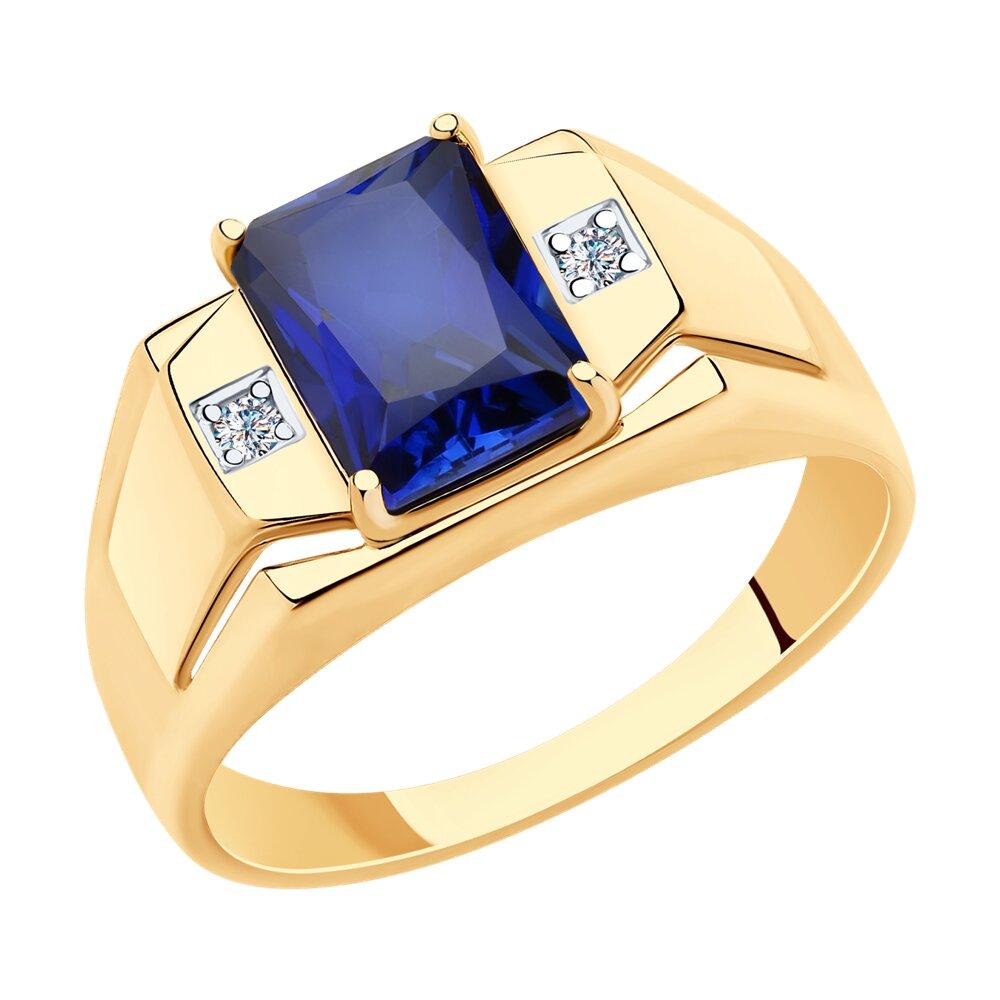Кольцо SOKOLOV из золота с корундом