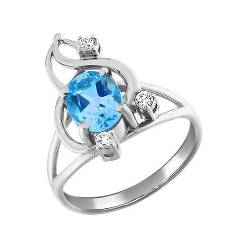 Кольцо с голубым топазом SOKOLOV