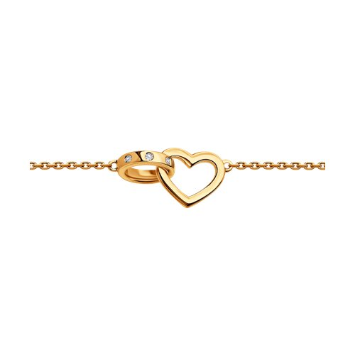 Браслет из золота с бриллиантами «Вместе навсегда»
