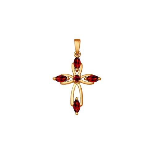 Крест из золота с гранатами