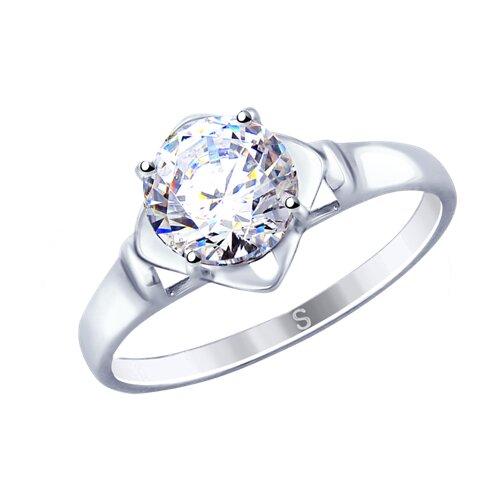 Кольцо из серебра со Swarovski Zirconia (89010112) - фото