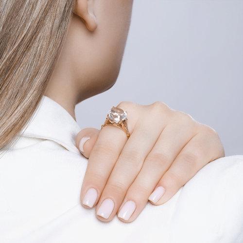 Перстень с горным хрусталём 711218 SOKOLOV фото 5