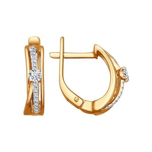 Серьги из золота с бриллиантами (1020829) - фото