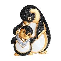 Брошь «Пингвины» из золота