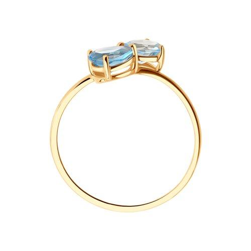 Кольцо из золота с топазами 716101 SOKOLOV фото 3
