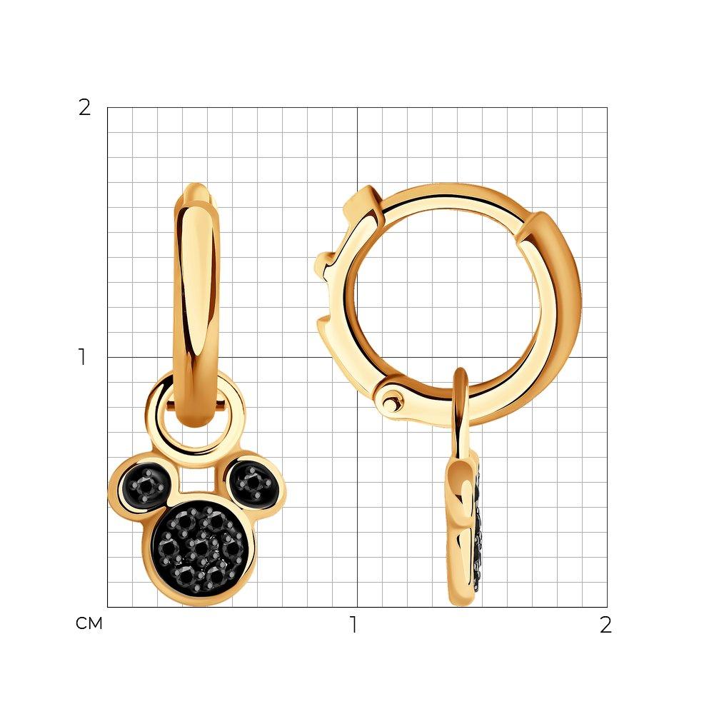 Фото - Серьги SOKOLOV из золота с черными облагороженными бриллиантами подвеска sokolov из желтого золота с бриллиантами и черными облагороженными бриллиантами