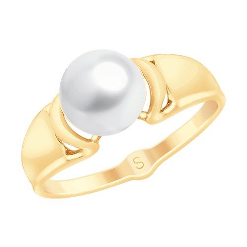 Кольцо из золота с жемчугом (791103) - фото